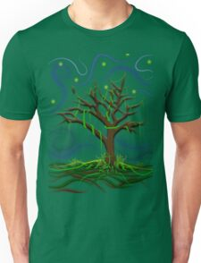 Neon Night Tree Unisex T-Shirt