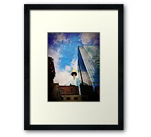 iPhoneography: King Street Gold Framed Print