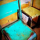 iPhoneography: Teal Chair II by Aakheperure