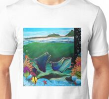 Stingrays at Corrie Island, Port Stephens, NSW, Australia Unisex T-Shirt