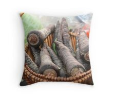 Purple the original carrot Throw Pillow