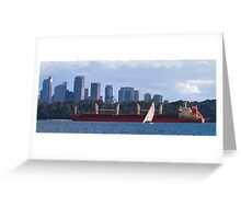 Sailing Harbour Panoramic Greeting Card