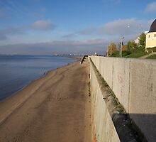 View of sunny embankment by MrTaskaev