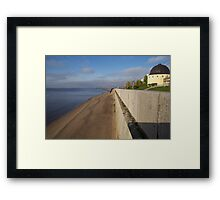 View of sunny embankment Framed Print