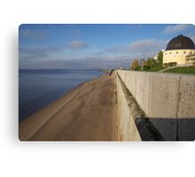 View of sunny embankment Canvas Print