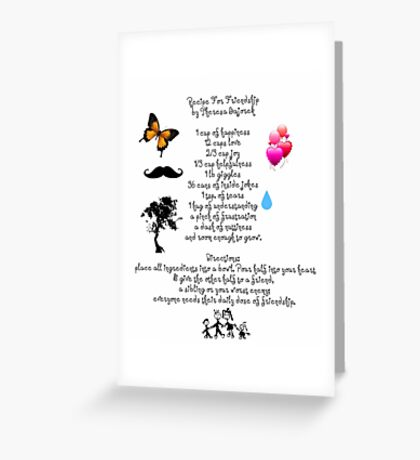 Recipe For Friendship Greeting Card