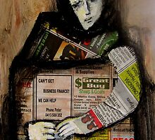 newspaper girl by glennbrady