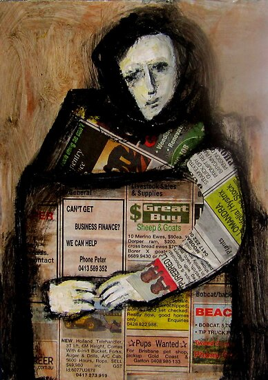 newspaper girl by glennbrady
