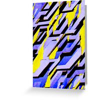 Toppling Facade Greeting Card