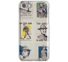 Always on the job Discharged as a soldier does not mean discharged as a citizen iPhone Case/Skin