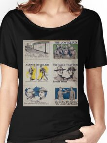 Always on the job Discharged as a soldier does not mean discharged as a citizen Women's Relaxed Fit T-Shirt