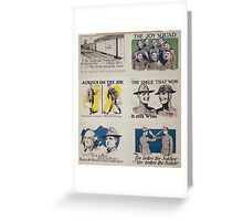 Always on the job Discharged as a soldier does not mean discharged as a citizen Greeting Card