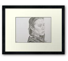 Cassandra Sketch Framed Print
