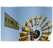 Hoods Lagoon Windmill - Clermont, Queensland Poster