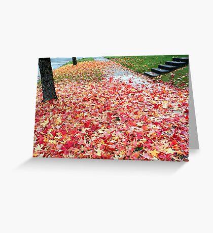 Suburban Autumn Greeting Card