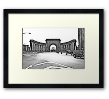 An arched door Framed Print