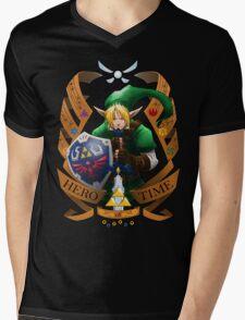Hero of Time (Green) Mens V-Neck T-Shirt