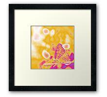 Pop Art Butterfly on leaf  Framed Print