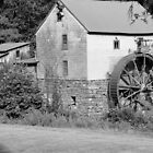 B & W Old Red Mill by ThinkPics