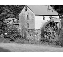 B & W Old Red Mill Photographic Print