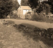 Sepia Old Red Mill by ThinkPics