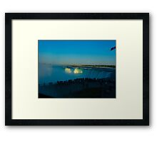 The  light and the rush Framed Print