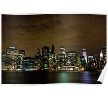 Manhattan Sky Line Poster