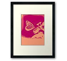 Pop Art Butterfly on flower Poster Framed Print