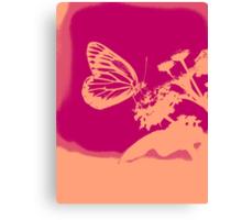 Pop Art Butterfly on flower Poster Canvas Print