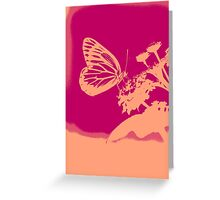 Pop Art Butterfly on flower Poster Greeting Card