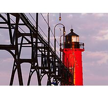 South Haven Michigan's South Pierhead Light at Dawn Photographic Print