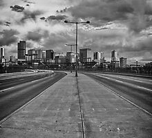 Denver Skyline B/W by Adam Northam