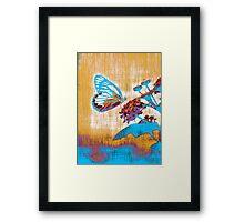 Vintage Butterfly on flower  Framed Print