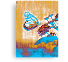 Vintage Butterfly on flower  Canvas Print