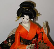 Japanese Doll #2 by Marilyn Harris
