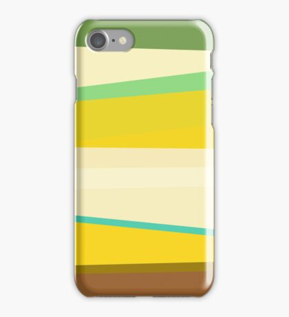 Retro Colorful Striped Abstract iPhone Case/Skin