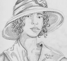 Woman with Hat by edwardiangirl