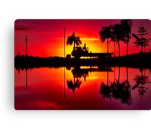 """Labouring At Dawn"" Canvas Print"