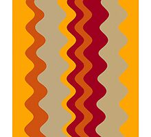 Retro Zigzag Colorful Chevron Striped Pattern 3 by Nhan Ngo