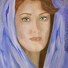 Madame dans le capot bleu by Kathie Nichols