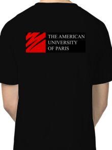 American University of Paris (AUP) - Black Background Classic T-Shirt