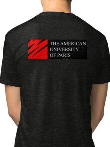 American University of Paris (AUP) - Black Background Tri-blend T-Shirt