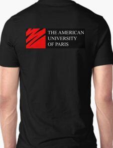 American University of Paris (AUP) - Black Background Unisex T-Shirt