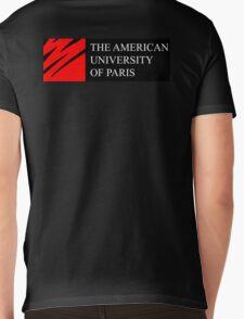 American University of Paris (AUP) - Black Background Mens V-Neck T-Shirt