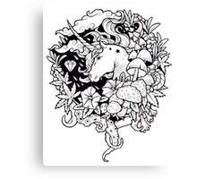 - Magical Unicorn BW - Canvas Print