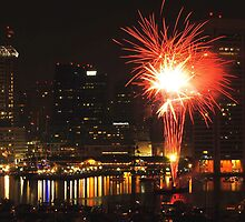 Baltimore Fireworks by Robin Lee
