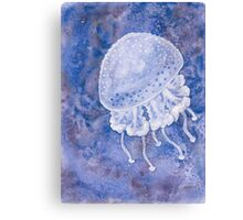 White Spotted Jellyfish Canvas Print
