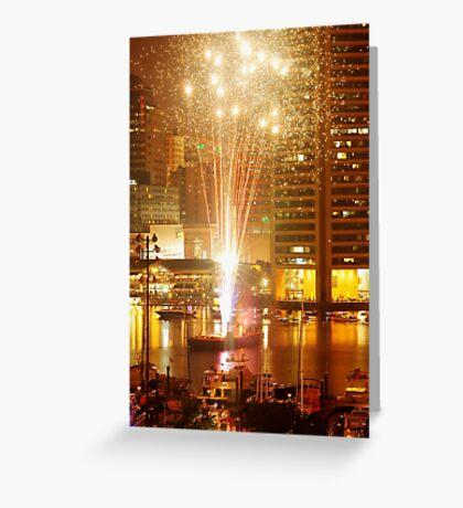 Baltimore Fireworks Greeting Card
