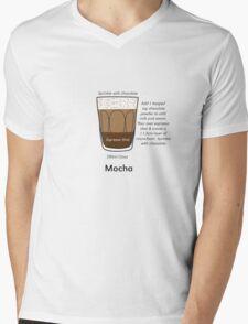 Coffee Addict, Moccha, no background Mens V-Neck T-Shirt