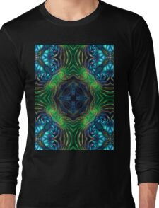 Psychedelic Fractal Manipulation Long Sleeve T-Shirt